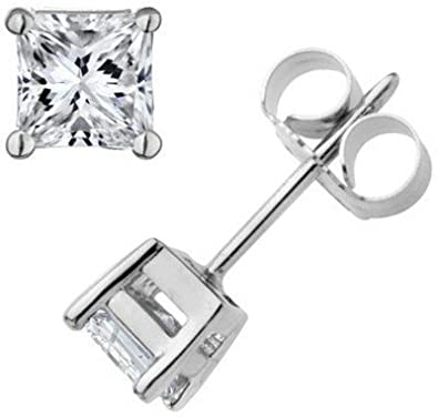 9704552f7 Buy Arisidh A+ Zirconia Trendy 92.5 Pure Sterling Silver Single Stone  Solitaire Stud Earrings For Men, Women, Boys And Girls Online at Low Prices  in India ...
