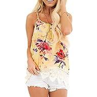 Dainzusyful Women Tank Tops Sleeveless T-Shirt Blouse Casual Floral Printed Vest Tops Loose Summer Shirts