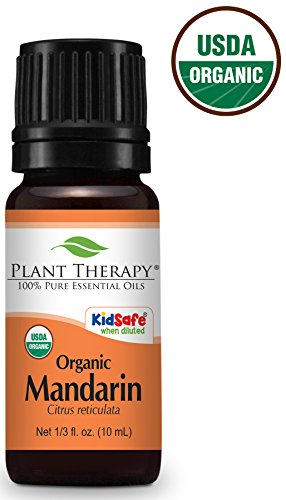 (Plant Therapy Mandarin Organic Essential Oil 10 mL (1/3 oz) 100% Pure, Undiluted, Therapeutic Grade)