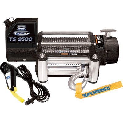- Superwinch 1595200 Tiger Shark 9.5, 12 VDC winch, 9,500 lb/4,309 kg capacity with roller fairlead