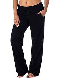 Women's Straight Leg Knit Lounge Pants With Pockets
