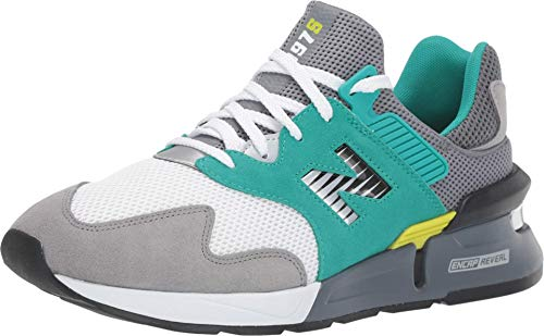 New Balance Men's 997J V1 Sneaker, Gunmetal/VERDITE, 10 D US