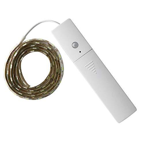 Lovescenario Sensitive Sensor Lights 60LED Induction Light Strip Drip Soft Light Tape Bedside Induction Light Bar Small Night Light ()