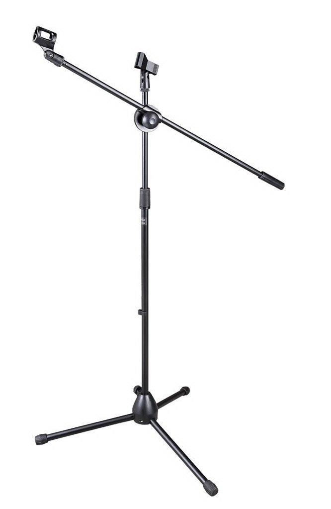 Bison Prosound (TM) Tripod Boom Mic Mount Mic Stand Microphone Floor Stand with Clips DIGIPARTS 80-076