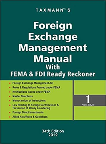 Buy Foreign Exchange Management Manual with FEMA & FDI Ready