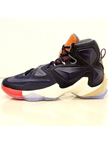 Nike Mens Lebron XIII Basketball Shoe (9.5, MULTI-COLOR/OBSIDIAN-SAIL) (Lebron Shoe Laces compare prices)