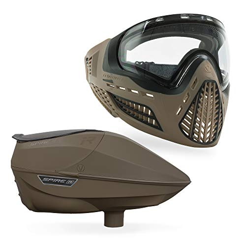 Virtue Spire IR Electronic Paintball Loader and VIO Ascend Mask Bundle - FDE ()