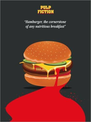 Poster 100 x 130 cm: Alternative pulp fiction burger quote ...