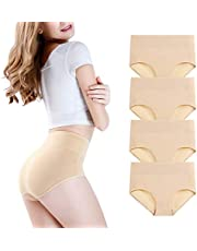 wirarpa Womens High Waist Soft Modal Underwear Stretch Full Brief Panties Multipack (Regular & Plus Size)