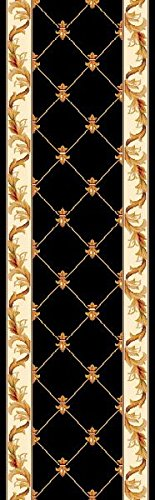 KAS Oriental Rugs Corinthian Collection Fleur-De-Lis Runner, 2'2