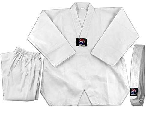 Zephyr Tae Kwon Do Gi Student Uniform with Belt - White - 00