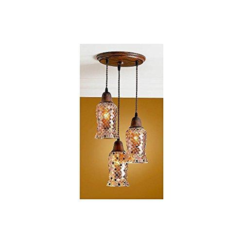 Schuller Spain 30031413/1267I4L Modern Orange Hanging Ceiling Light Pendant glass shade pendant 3 Light Dining Room, Living Room, Hallway, Bedroom   ideas4lighting by Schuller