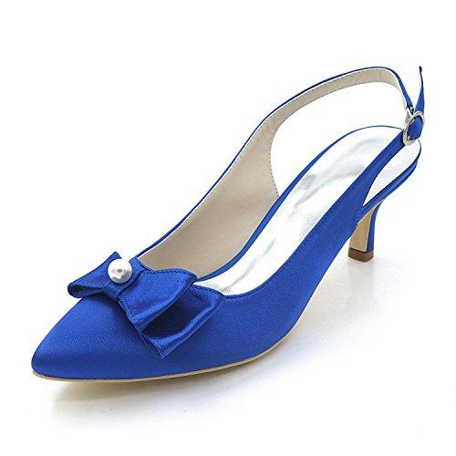 blue Mariage L Printemps Talons Hauts Pointu Et automne éTé Femmes SoiréE Orteil YC Jupe RqRwK6FO
