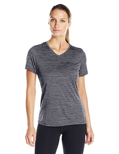 Dye Tee Womens - Charles River Apparel Women's Space Dye Moisture Wicking Performance Tee, Black S