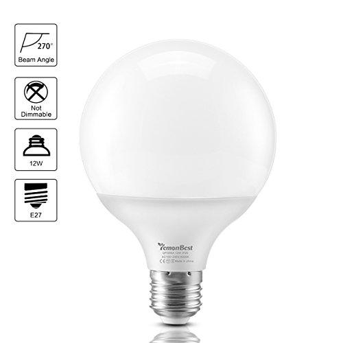 LemonBest Bright 12 watts LED G30 Globe Bulb Flood Light LED Pendant Light Bulb for Home (Warm White)