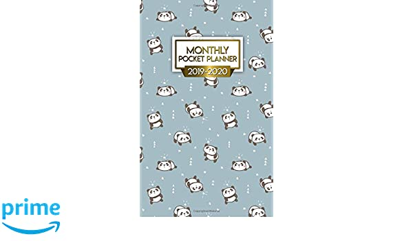 Monthly Pocket Planner 2019-2020: Nifty Two-Year Lazy Panda ...