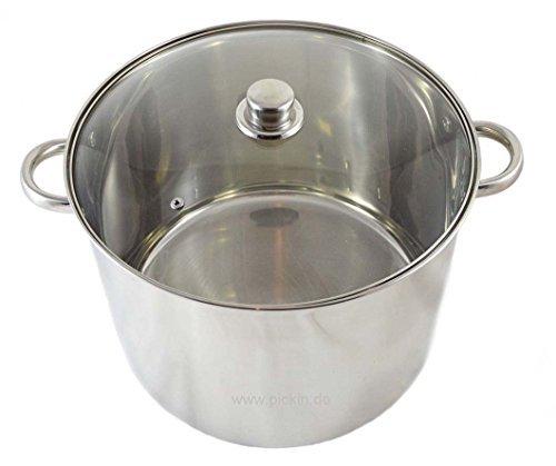 Kochtopf Induktionskochtopf Edelstahl Suppentopf Fleischtopf Gemüsetopf Universaltopf Nudeltopf Gulaschtopf Induktion in 6 Größen wählbar (7 Liter )