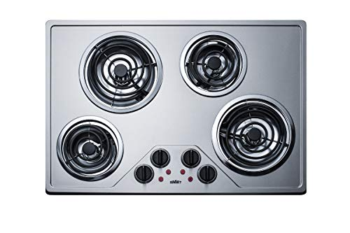 30 Inch Electric Coil Style Cooktop with 4 Elements, ADA Compliant, in Stainless Steel ()