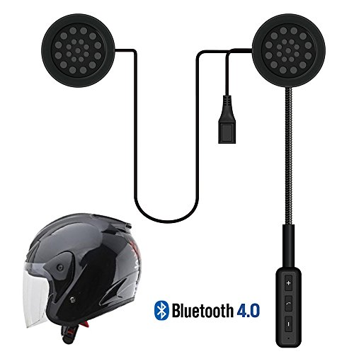 LeaningTech Motorcycle Helmet Wireless Headset Bluetooth Intercom Headset, Helmet Headphones, Speakers Hands free, Music Call Control (Motorcycle Helmet Headset Wireless)