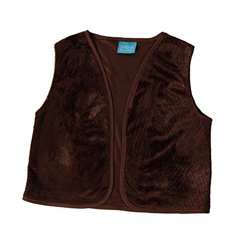 Kids Unisex Brown Victorian Waistcoat Vest, M/L -