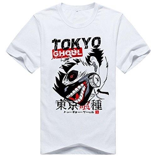 AnimeTown Tokyo Ghoul Cosplay Costume Anime Short Sleeves Tee T-Shirt (M, (Saint Gabriel Costume)
