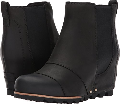 Sorel Women's Lea Wedge Booties, Black/Quarry, 8 B(M) US by SOREL