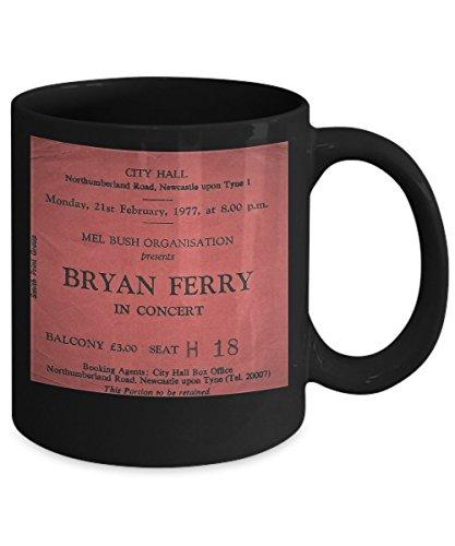 Bryan Ferry vintage music concert ticket coffee mug