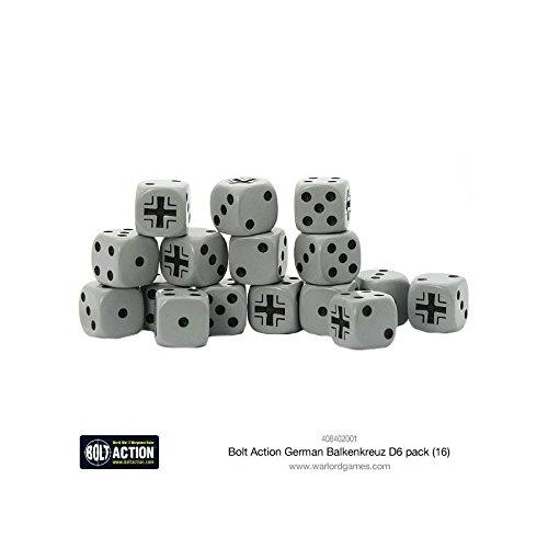 Bolt Action German Balkenkreuz D6-16 Pack Dice Warlord games