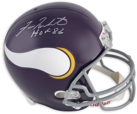 Fran Tarkenton Minnesota Vikings Autographed Riddell Replica Throwback Helmet with HOF 86