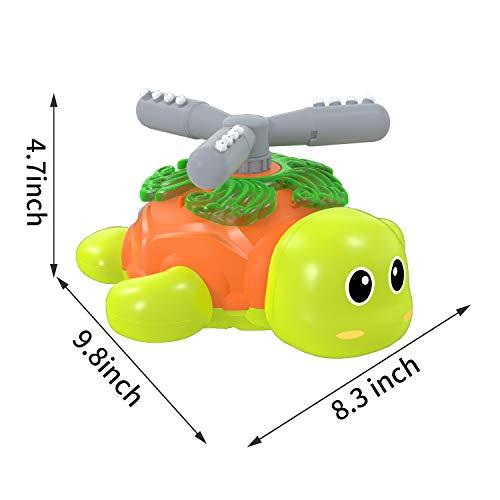 Kiztoys Sprinkler für Kinder, Gartensprinkler für Kinder in Schildkrötenform, Spinning and Splashing Turtle, Fun Toy für Kinder im Freien Spielen