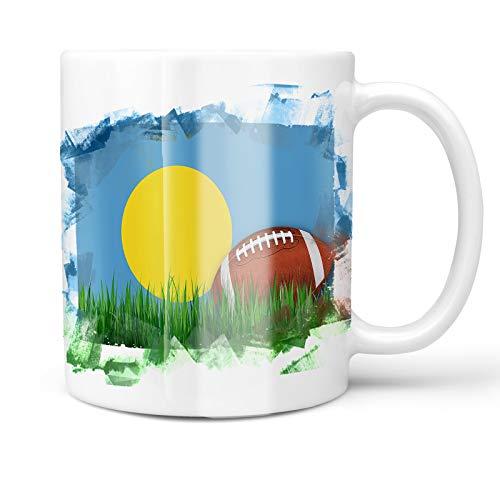 Neonblond 11oz Coffee Mug Football with Flag Palau with your Custom Name