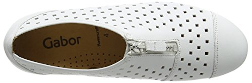 GaborGibson - Mocasines Mujer Blanco - blanco (White Leather)