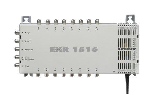 Kathrein EXR 1516 Satelliten-ZF-Verteilsystem-Multischalter (5-16 Teilnehmeranschluß, 18 V Spannung, Fernspeisestrom 550 mA)