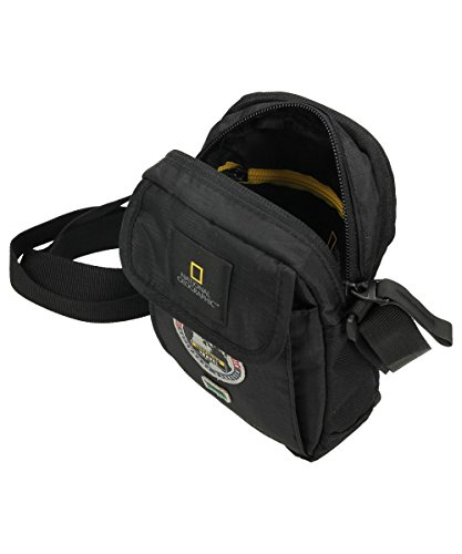 National Geographic Umhängetasche Schultertasche schwarz 18,5x4x13,5cm Tasche 01113 06 Bowatex