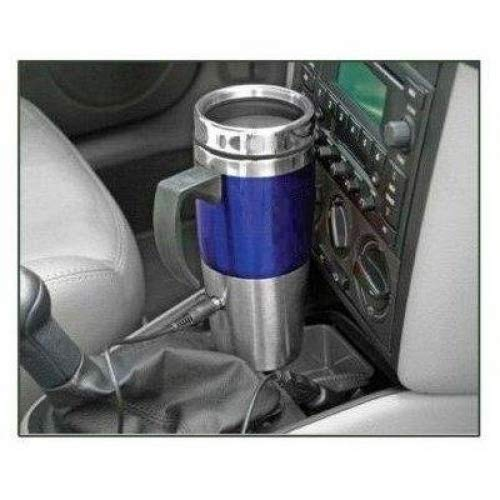 North Point HW4274 Blue Heated Stainless Steel Travel Mug with USB 12 Volt NOTHPOINT