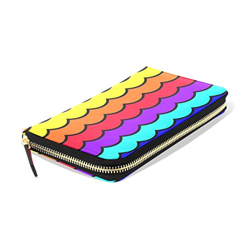 Long BENNIGIRY Shells PU Clutch Card Purse Credit Holder Wallet Women Bags Leather FqrFA1ap
