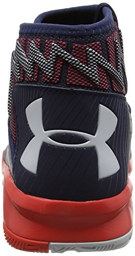 Under Armour UA Rocket 2, Chaussures de Basketball Homme, Bleu (Midnight Navy 410), 46 EU