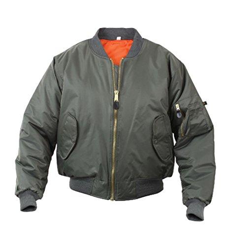 Melonie clothing Flight Jacket Military Navy USAF Air Force Bomber Jacket Reversable ()