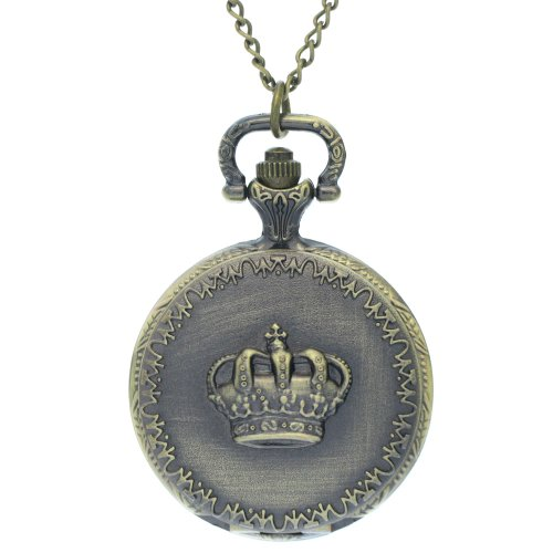 FobTime Carved Crown Pocket Watch Classical Crown With Hundreds of cheering Public Design Fob Watch