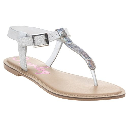 Thong Off Superdry White Sandals Bondi Metallic 55AvOq