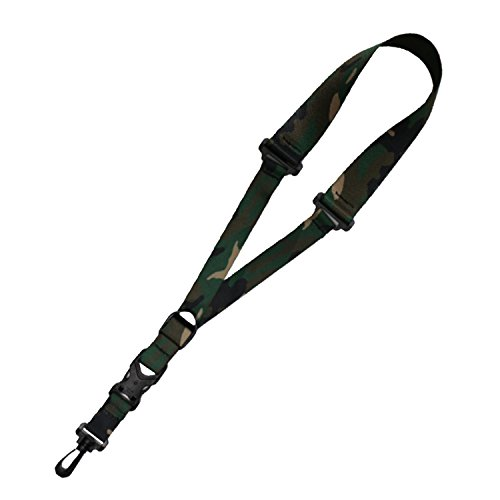 Killer-Q Saxophone Strap - Stylish Quick Release, Adjustable Sax Neck Straps, Made in USA - Woodland Camo Design