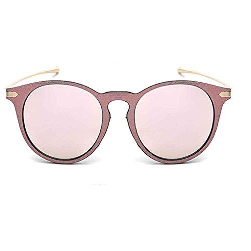 aleación gafas de gafas sol lente sol de forma protección libre PC en resina aire marco Ronda al la retro 3 de de Babysbreath17 7 UV400 de Mujeres RqIPzz
