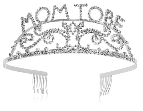 Elegant Rhinestone Mom to Be Tiara - Premium Quality Metal Baby Shower Tiara for the Mother to Be, Great Mother's Day Gift Idea for New (Box Decoration Ideas)
