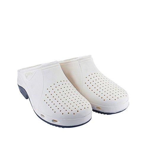 TROKLO' 140.0001 - Calzado de protección de goma para mujer Bianco (Bianco/Suola Grigio)