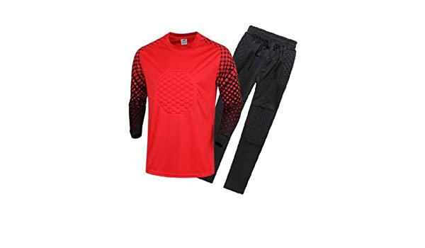 Amazon.com : FidgetFidget Mens Soccer Goalkeeper Sponge Protector Suit Camisetas De Futbol RedUS S/Asian L : Sports & Outdoors