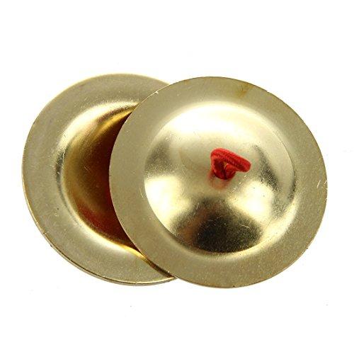 Finger Cymbals Musical Instrument - TOOGOO(R)Belly Dancing Gold Finger Cymbals Musical Instrument