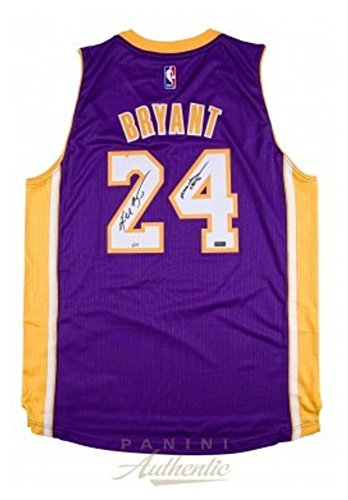 Kobe Bryant Signed Autograph Purple Swingman Jersey With Mamba Out Inscription Panini Le 124 - Certified Authentic