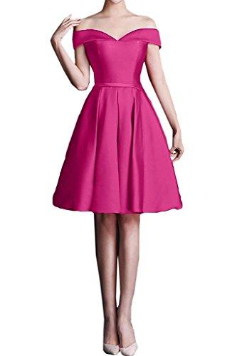 Linie Pink A Brautjungfernkleider Festlichkleider Knielang Ballkleider Braut mia La Mini Abendkleider Kurzes Cocktailkleider n67vgnA4xw