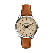 Fossil Women's ES3950 Tailor Multifunction Stainless Steel Watch with Leather Band