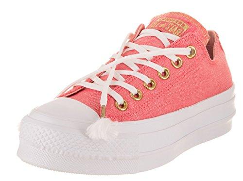 Converse Women's Chuck Taylor All Star Metallic Platform Low Top Sneaker, 8 US